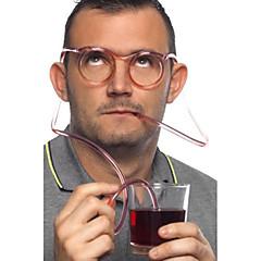 Szalone Zabawa Okulary słomką, W18cm x L15cm x H3cm