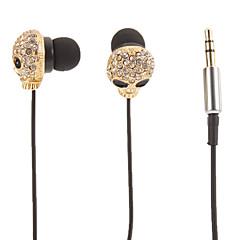 Cranio a forma di oro stereo In-Ear Headphone (occhi piccoli)