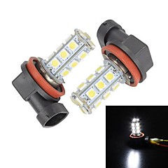 Merdia H11 3W 120LM 18x5050SMD LED White for Car Fog Light (Pair /12V)