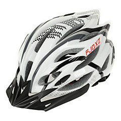 FJQXZ Unisex Outdoor PC + EPS 22 Vents nero + bianco bicicletta Hlemets