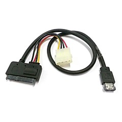 "50cm eSATAp Power ESATA Combo to SATA 22pin & IDE 4pin 5V 12V for 3.5"" 2.5"" Hard Disk Data Cable"
