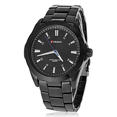 Masculino Relógio Elegante Quartz Aço Inoxidável Banda Preta marca