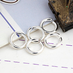 Durable Round Silver Alloy Clasps 100 Pcs/Bag