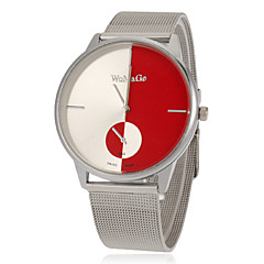 Women's Fashion Round Dial Steel Band Quartz Analog Wrist Watch (Assorted Colors)