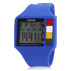 Retângulo Multi-Funcional dos homens Dial Rubber Band Quartz analógico relógio de pulso (cores sortidas)