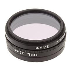 CPL + UV + Filtre FLD Définir pour appareil photo avec filtre Sac (37mm)