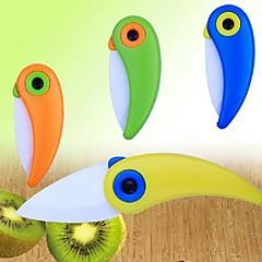 Adorável Forma Pássaro Mini Ceramic faca dobrável, 2 polegadas