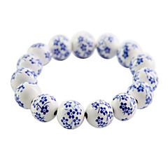 Ethnic Manual 14cm Women's Blue Ceramic Strand Bracelet(1 Pc)