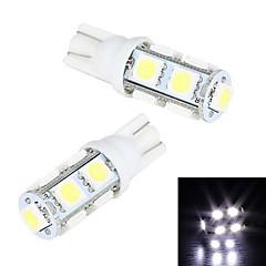 Merdia T10 9 SMD 5050白色光LEDライセンスプレートライト/インストゥルメント·ランプ(2 PCS/12V)