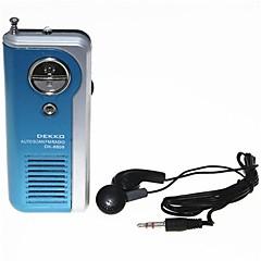DEKKO DK-8809 Sports Mini Auto Scan FM Radio Speaker with Stereo Earphone Blue