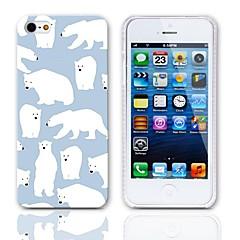 Dure de cas modèle ours polaire avec protège-écran 3-Pack pour iPhone 5/5S