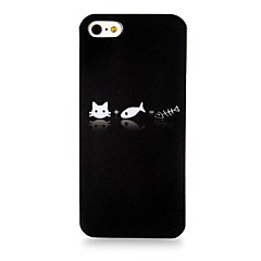Cat and Fish Pattern Silicone Soft Case for iPhone4/4S