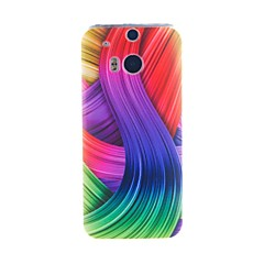 For HTC Case Pattern Case Back Cover Case Lines / Waves Soft TPU HTC