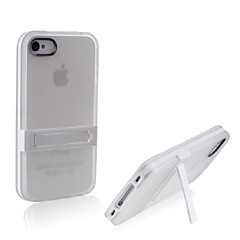 Ultra Thin Frosted TPU Single Frame Bracket Case for iPhone 4/4S
