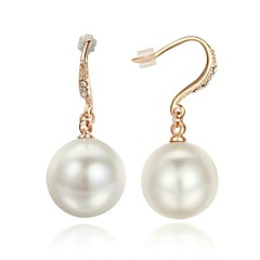 Imitation Pearl Earrings18K Rose Gold Plated Earrings With Austria Crystal
