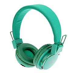 MRH-8809 3,5 mm stereo Sammenklappelig On-Ear hovedtelefoner med TF / FM-funktion (Grøn)
