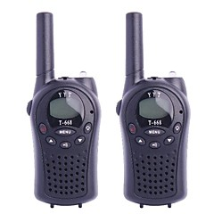 T-668 0.5W 4V FRS 22-Channel Walkie Talkies for Child (2-Piece)