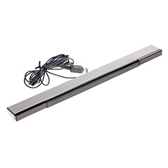 Wired Sensor Bar with USB Plug for Wii Black and Silver(Cable 2.3m)