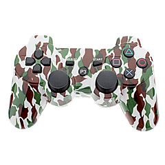 Camouflage Wireless Controller för PS3 (grön + vit)