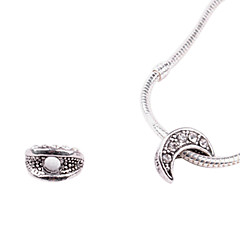 Moon Alloy Whorled Big Hole DIY Beads For Necklace or Bracelet