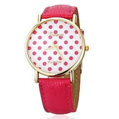 Women's Style  Small Dots Fase  PU Band Quartz Wrist Watch (Assorted Colors)