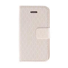 Kinston Pink Diamond Pattern PU Leather Full Body Case with Stand for iPhone 4/4S