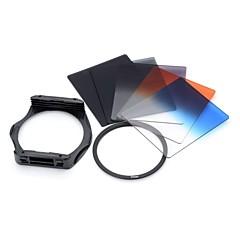 S1307 8-en-1 graduelle ABS Objectif filtres Mont Bague pour appareil photo 77mm Lens - Noir