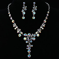 Jewelry Set Women's Anniversary / Wedding / Engagement / Birthday / Gift / Party / Daily / Special Occasion Jewelry Sets SilverCubic