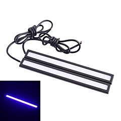 Waterproof 6W 220LM 6000K 60 COB LED Ice Blue Light Car Daytime Running Light Strip Bar - White (12V / 14 centímetros)