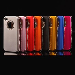 Circular Frame  Diamond Hard Case for iPhone 4/4S (Assorted Colors)