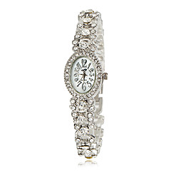 Women's Vintage Full Diamante Round Dial Alloy Band Quartz Analog Fashion Watch (Assorted Color) Cool Watches Unique Watches