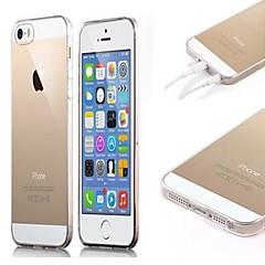 Soft Case transparente com pó de encaixe para iPhone 5/5S