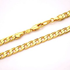 U7® 18K Chunky Gold Filled Necklace Figaro Chains High Quality Franco Necklaces Chain for Men 5MM 55CM