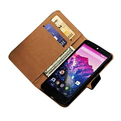 Genuine Leather Wallet Case voor LG Google Nexus 5 E980 met Card houders