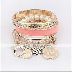 MISSING U Alloy / Imitation Pearl Bracelet Chain & Link Bracelets / Strand Bracelets Daily 1pc