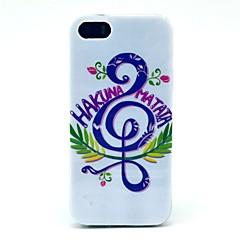 Música Hakuna Matata padrão caso capa dura para o iPhone 5/5S