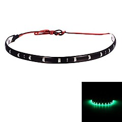 Merdia 2.5W 40LM 15x3528SMD LED  Green Car Decoration Lights -30CM (12V /1 PCS)