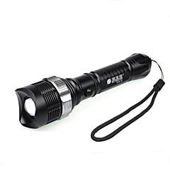 פנס LED / פנסי יד LED 3 מצב 350 Lumens מיקוד מתכוונן / עמיד למים / ניתן לטעינה מחדש / עמיד לחבטות / אחיזה נגד החלקה / Strike BezelCree
