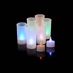 Colorful bougie lampe LED avec capteur de voix