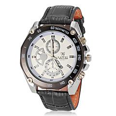 Herren Einfache runden Zifferblatt PU-Leder-Band-Armbanduhr Quarz Analog (verschiedene Farben)