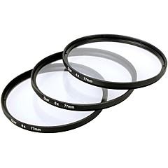 Filtre Étoile x 77mm 4 points + 6 points + 8 points Trois pièces Combinaison Costume pour Canon / Nikon / Sony SLR etc - Noir