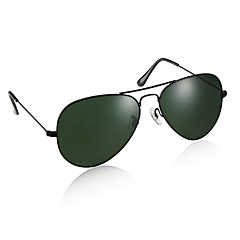 UV400 Resin Lens Glare-Guard Driving Sunglasses (Black Frame Green Lens)
