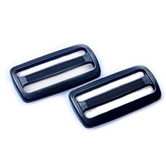 Heavyduty Plastic Triglide Slides 50mm - Black (2-Pieces Pack)