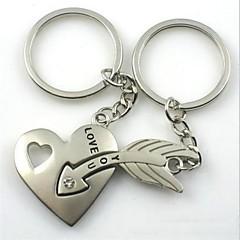 (2 PC) Krásné módní Srdce a šípy Arrow přes srdce High-Grade Stainless Steel pár Keychain