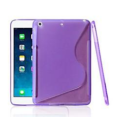 s-formade silikonmodell fodral för ipad mini 3, iPad Mini 2, iPad Mini (blandade färger)