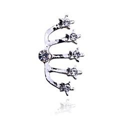 Lureme®Five Crystal Stars Single Stud Earring