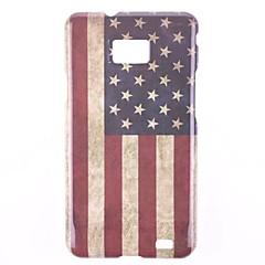 Den amerikanska flaggan Design Hårt Fodral till Samsung Galaxy S 2 I9100