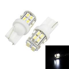 Merdia T10 3W 120LM 20x1206SMD LED de luz blanca de coches de matrículas de la lámpara / lámpara de lectura (Pair/12V)