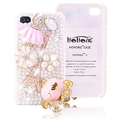 HOHONG (TM) Bling Full Pearl Pumpkin Carriage Case for iPhone 4 / 4S