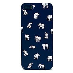 Para Funda iPhone 5 Diseños Funda Cubierta Trasera Funda Elefante Dura Policarbonato iPhone 7 Plus / iPhone 7 / iPhone SE/5s/5